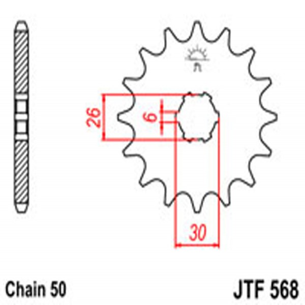 Jt Gear BOX Sprockets G/b 568-17T Yam