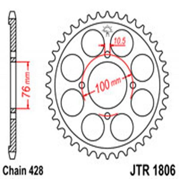 Jt Rear Sprockets R/w 1806-47 Suz (803)