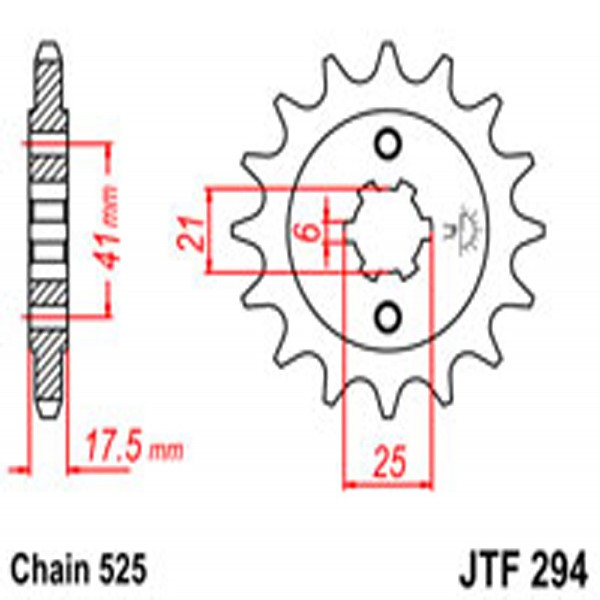Jt Gear BOX Sprockets G/b 294-15T Hon (284)