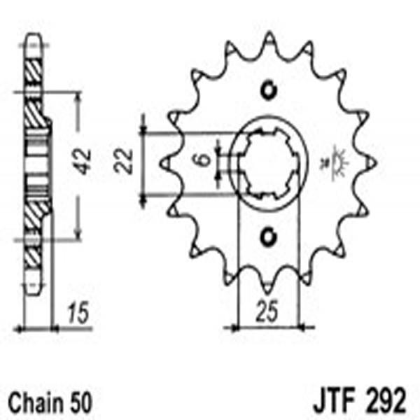 Jt Gear BOX Sprockets G/b 292-16T Hon (294)