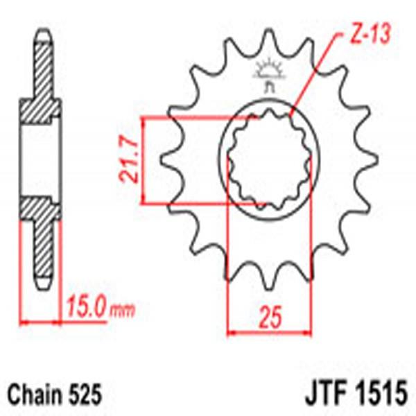 Jt Gear BOX Sprockets G/b 1515-15T Kaw (2082)