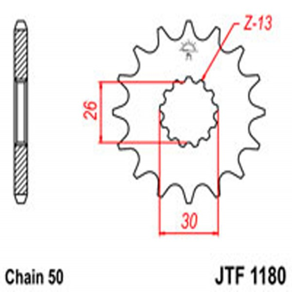 Jt Gear BOX Sprockets G/b 1180-17T Tri (2090)