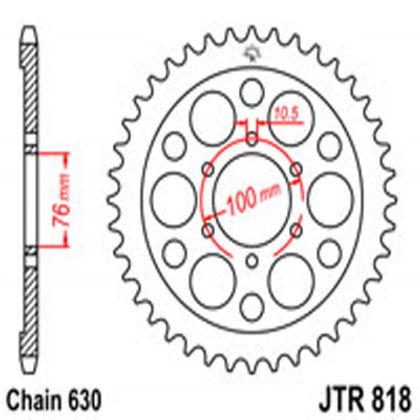 Jt Rear Sprockets R/w 818-41T Suz