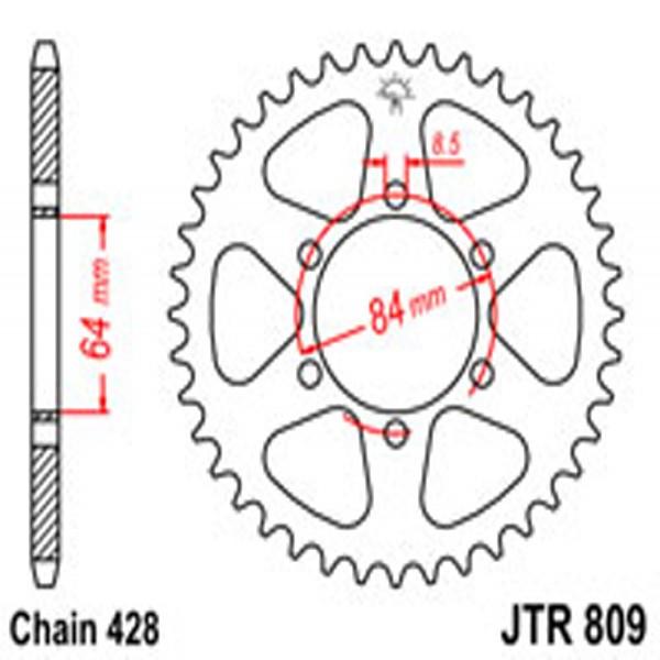 Jt Rear Sprockets R/w 809-53T Suz
