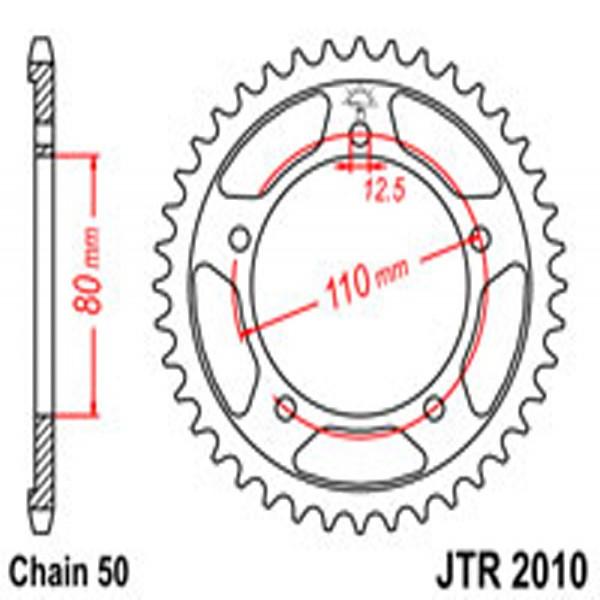 Jt Rear Sprockets R/w 2010-46T Tri (334)