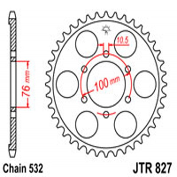 Jt Rear Sprockets R/w 827-44T Suz (806)