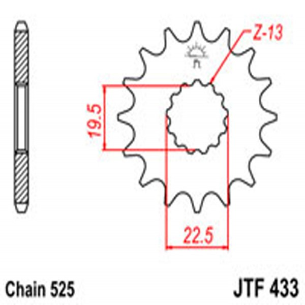 Jt Gear BOX Sprockets G/b 433-14T Suz