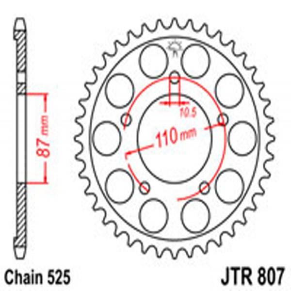 Jt Rear Sprockets R/w 807-46 Suz (828)