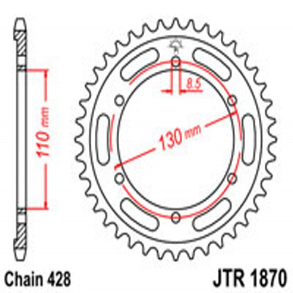 Jt Rear Sprockets R/w 1870-46T Yam (4372)