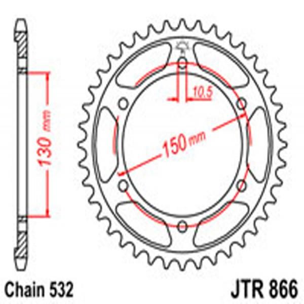 Jt Rear Sprockets R/w 866-39T Yam (863)
