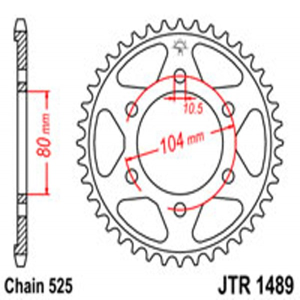 Jt Rear Sprockets R/w 1489-42 Kaw (4359)