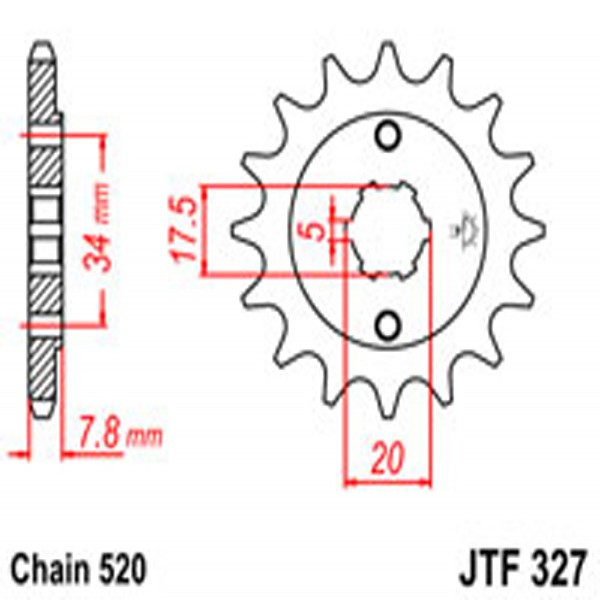 Jt Gear BOX Sprockets G/b 327-14 Hon (279)