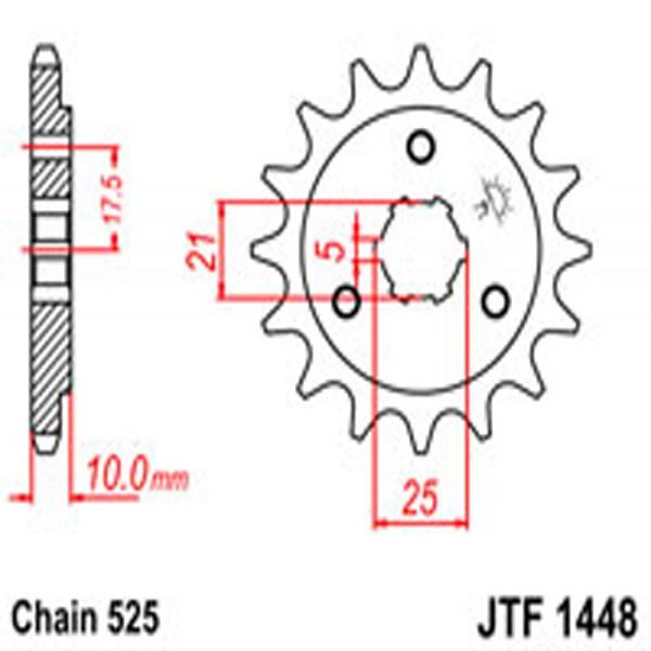 Jt Gear BOX Sprockets G/b 1448-15 Suz (2069)