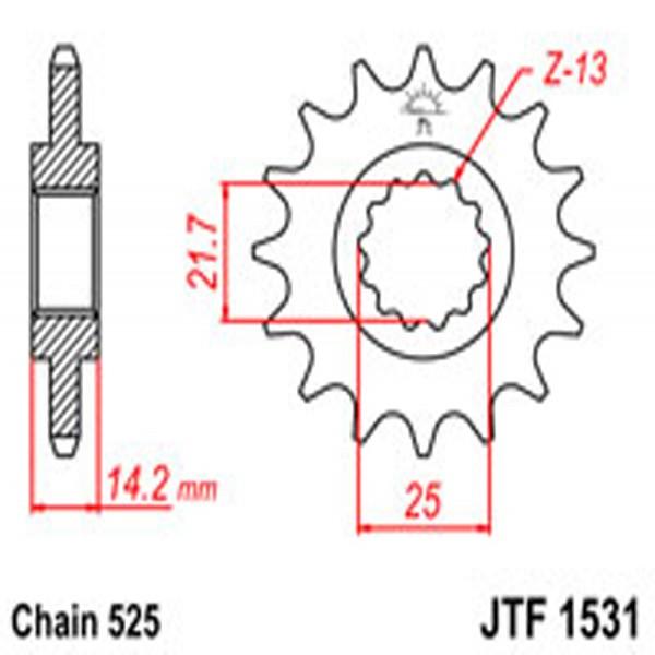 Jt Gear BOX Sprockets G/b 1531-15 Kaw (2083)