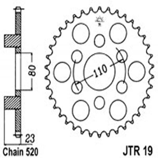 Jt Rear Sprockets R/w 19-37 Aprilia (3553)