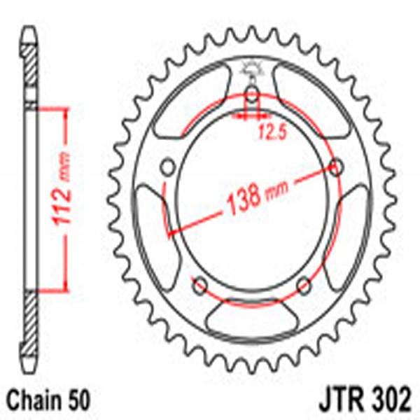 Jt Rear Sprockets R/w 302-44 Hon (0408)