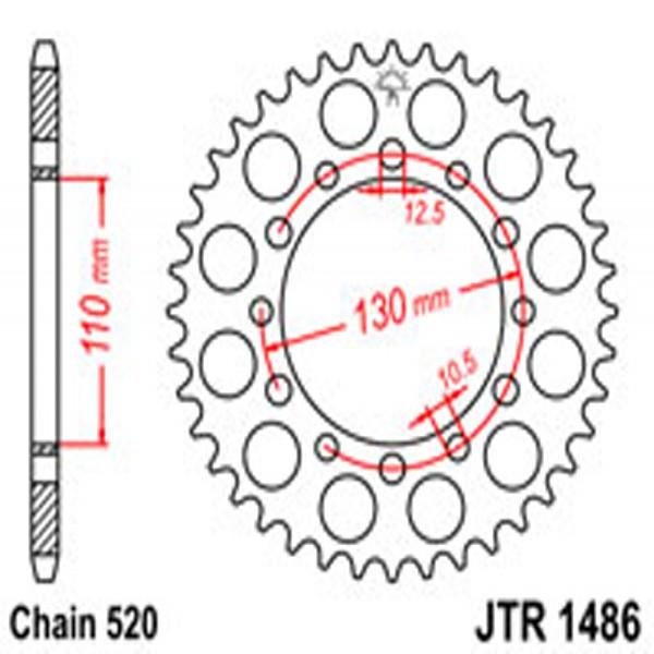 Jt Rear Sprockets R/w 1486/486-41 Kaw (504)