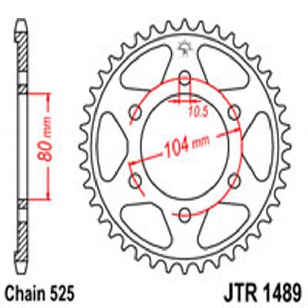 Jt Rear Sprockets R/w 1489-40 Kaw (4359)