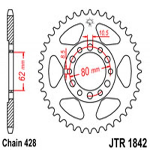 Jt Rear Sprockets R/w 1842-55 Yam (842)