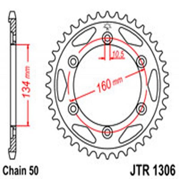 Jt Rear Sprockets R/w 1306-40 (4399) Hon