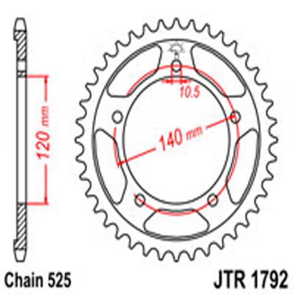 Jt Rear Sprockets R/w 1792-42 (4398) Suz/tri