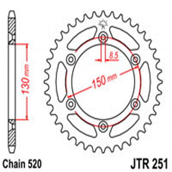 Jt Rear Sprockets R/w 251-46 (236)