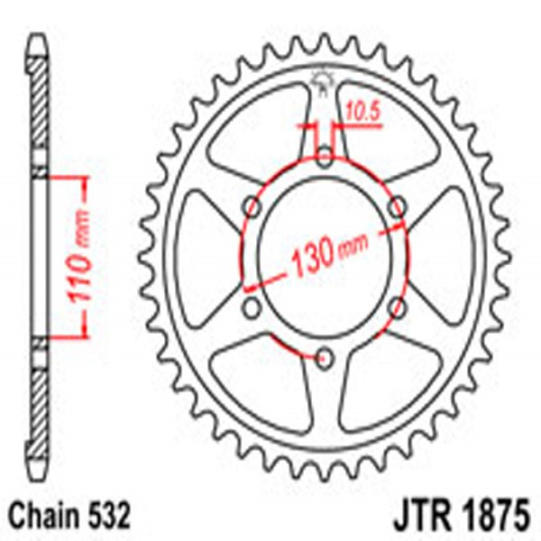 Jt Rear Sprockets R/w 1875-48 (4440)