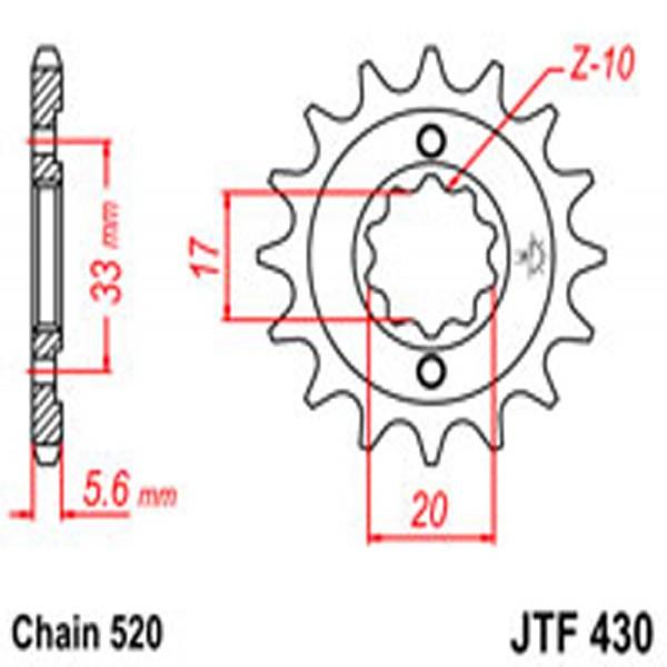 Jt Gear BOX Sprockets G/b 430-13