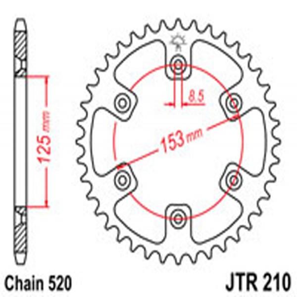 Jt Rear Sprockets R/w 210-51 (4307)