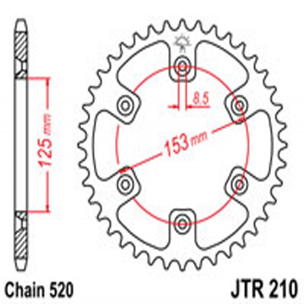 Jt Rear Sprockets R/w 210-52 (4307)