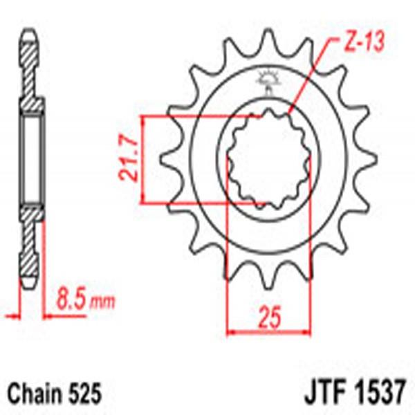 Jt Gear BOX Sprockets G/b 1537-16