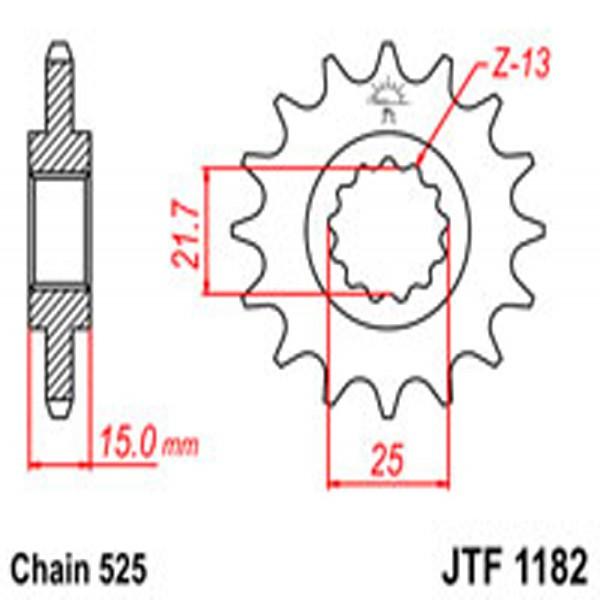 Jt Gear BOX Sprockets G/b 1182-14 (2082)