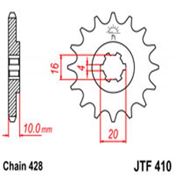 Jt Gear BOX Sprockets G/b 410-14