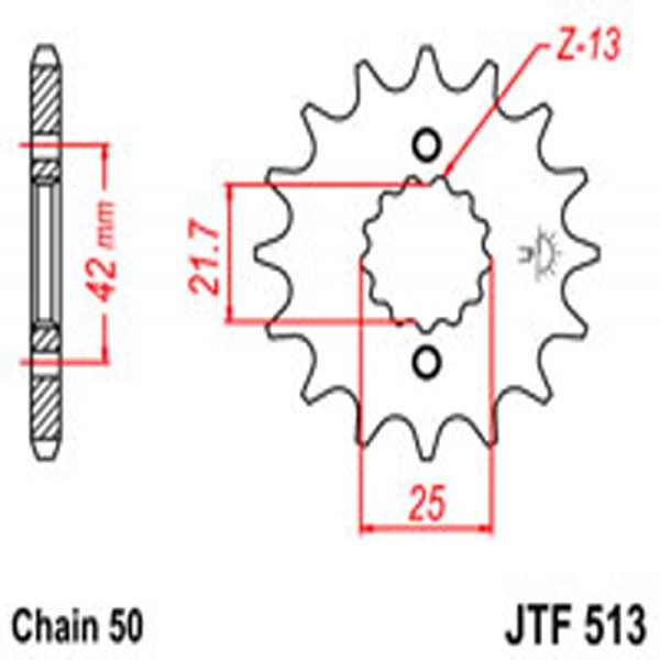 Jt Gear BOX Sprockets G/b 513-14