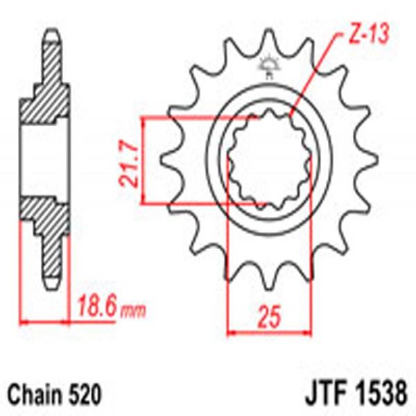 Jt Gear BOX Sprockets G/b 1538-15
