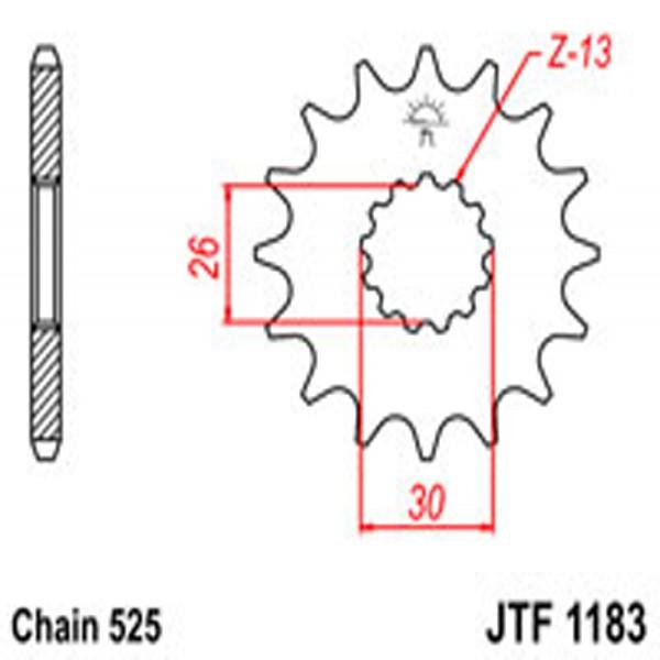 Jt Gear BOX Sprockets G/b 1183-18