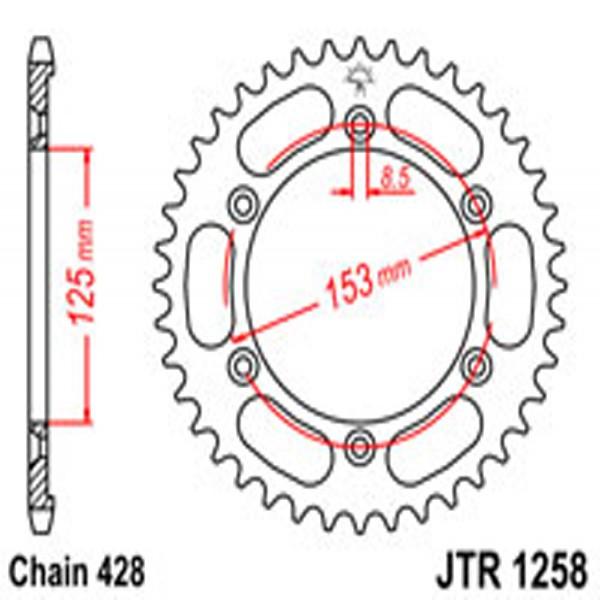 Jt Rear Sprockets R/w 1258-54