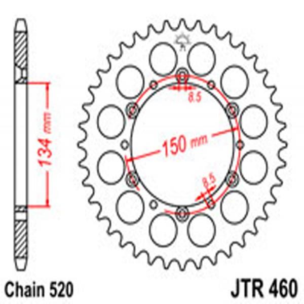Jt Rear Sprockets R/w 460-42 (489)