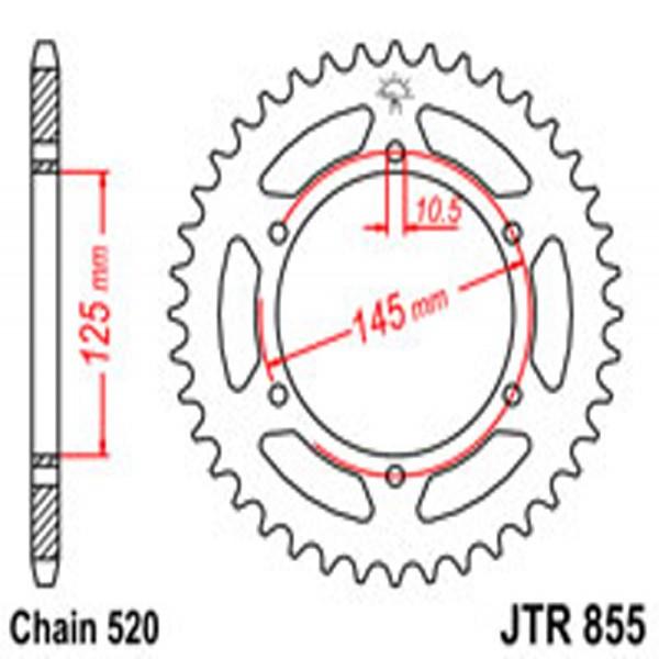 Jt Rear Sprockets R/w 855-45 Yam