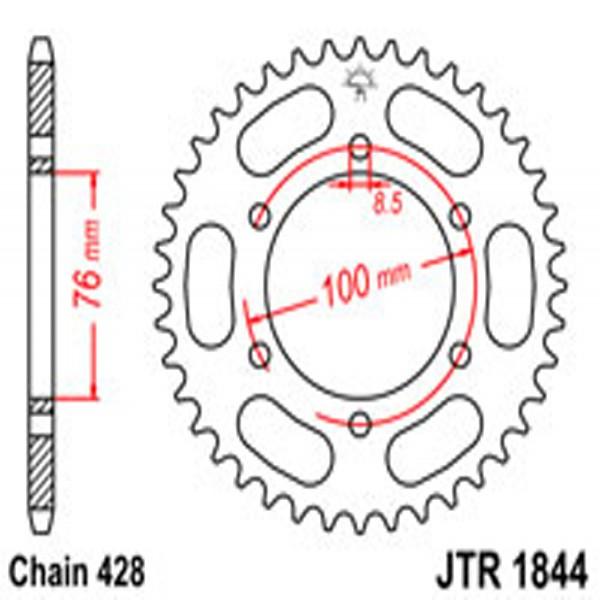 Jt Rear Sprockets R/w 1844-48 Yam