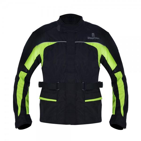 Spartan J17 Textile Jacket Black/Fluo Yellow