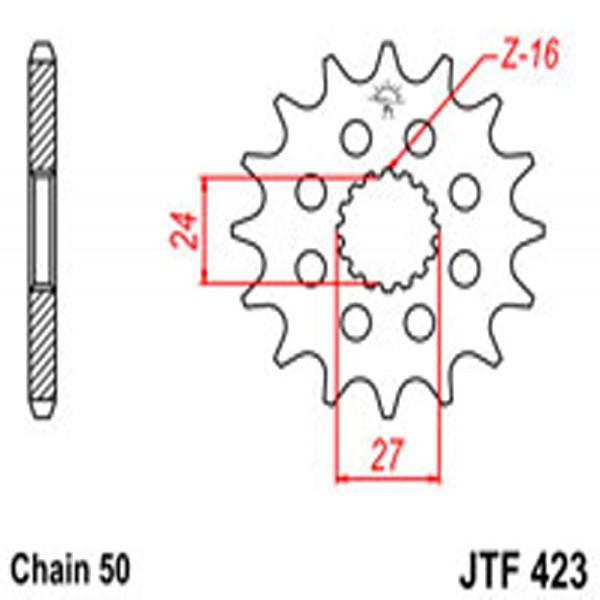 Jt Gear BOX Sprockets G/b 423-17T Suz