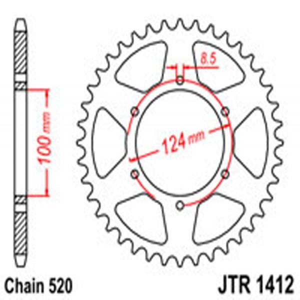 Jt Rear Sprockets R/w 1412-37