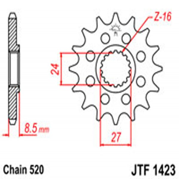 Jt Gear BOX Sprockets G/b 1423-17 Suz