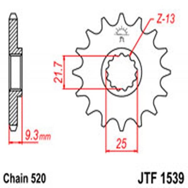 Jt Gear BOX Sprockets G/b 1539-15