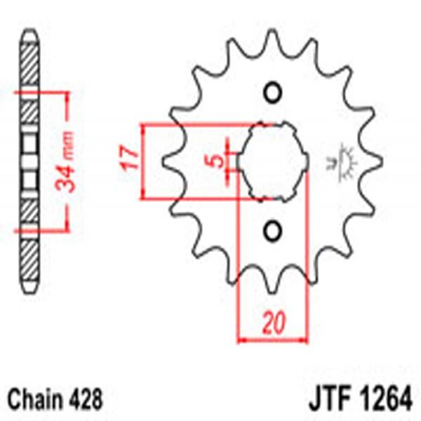 Jt Gear BOX Sprockets G/b 1264-16 (2037)