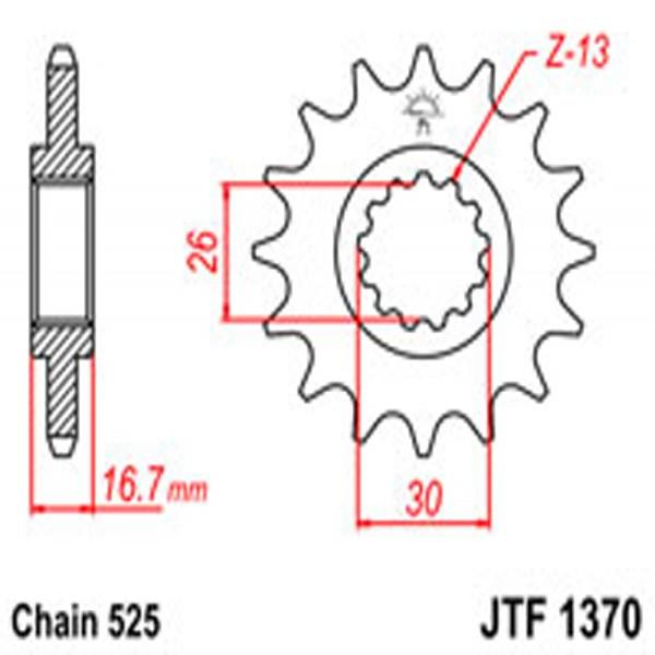 Jt Gear BOX Sprockets G/b 1370-15T Hon (2068)