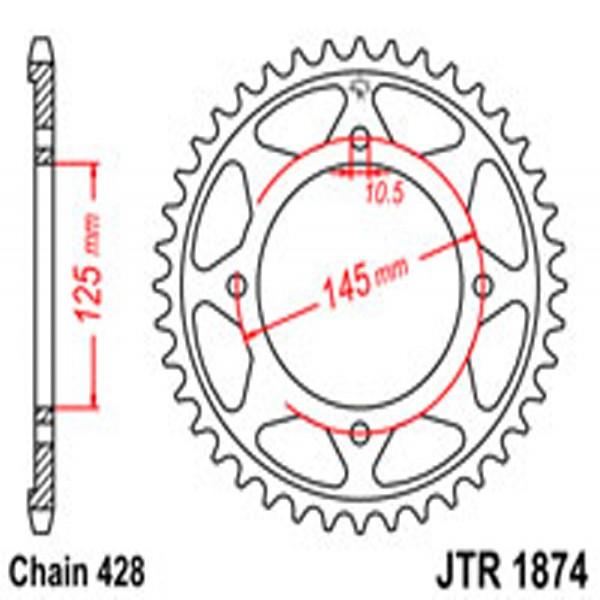 Jt Rear Sprockets R/w 1874-59 Yam