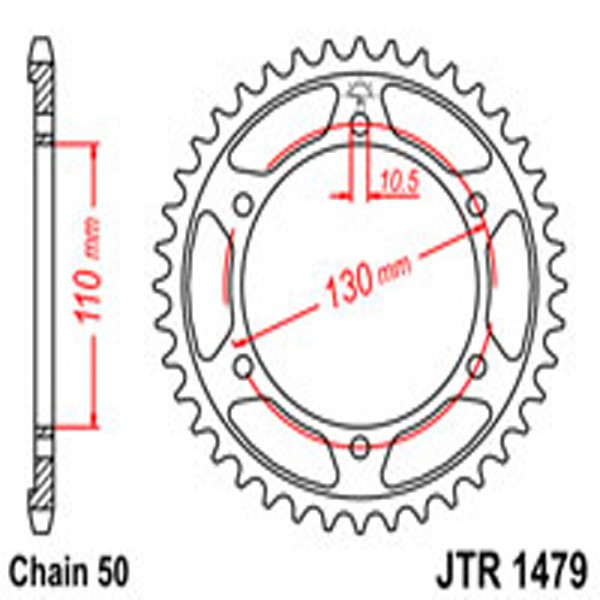 Jt Rear Sprockets R/w 1479-47