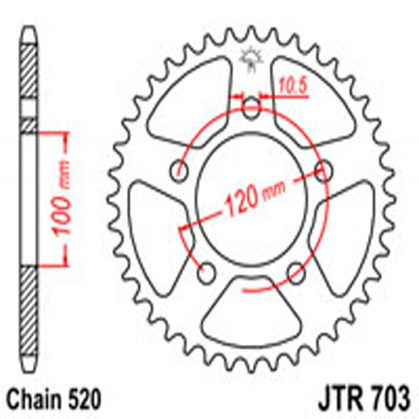 Jt Rear Sprockets R/w 703-40 Aprilia